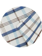 Men's Premium Cotton Check Shirt - Blue Checks (1133) - Theshirtfactory