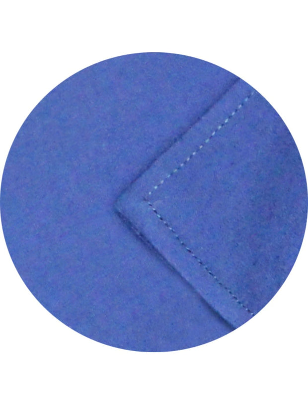Men's Premium Cotton Satin Plain Shirt - Blue (1004) - Theshirtfactory
