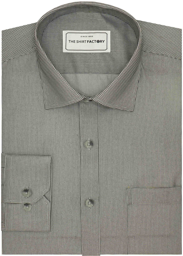 Men's Premium Cotton Blend Dobby Shirt Grey (0991) - Theshirtfactory