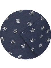 Selects Premium Cotton Satin Printed Shirt Navy Blue (1020) - Theshirtfactory