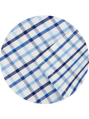 Men's Premium Cotton Check Shirt - Blue Checks (1136) - Theshirtfactory