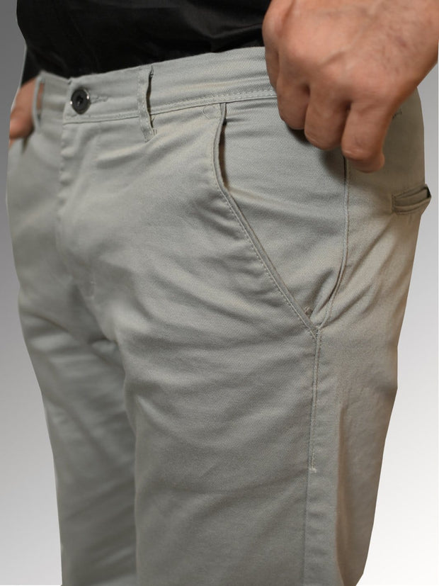 Men's Casual Cotton Trouser - Pewter Grey (TRO-050)