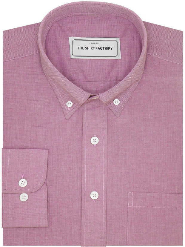 Men's Premium Cotton Plain Button Down Shirt - Taffy Pink (1117) - Theshirtfactory