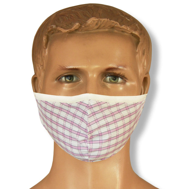 Unisex Assorted Multi Colors Anti Pollution Dust Mask Cotton 2-Layer Mouth Nose Cover Washable Reusable (Pack of 3) - Theshirtfactory