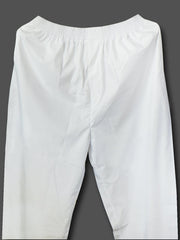 Men's Regular Plain Pyjamas - White (PJMA02) - Theshirtfactory