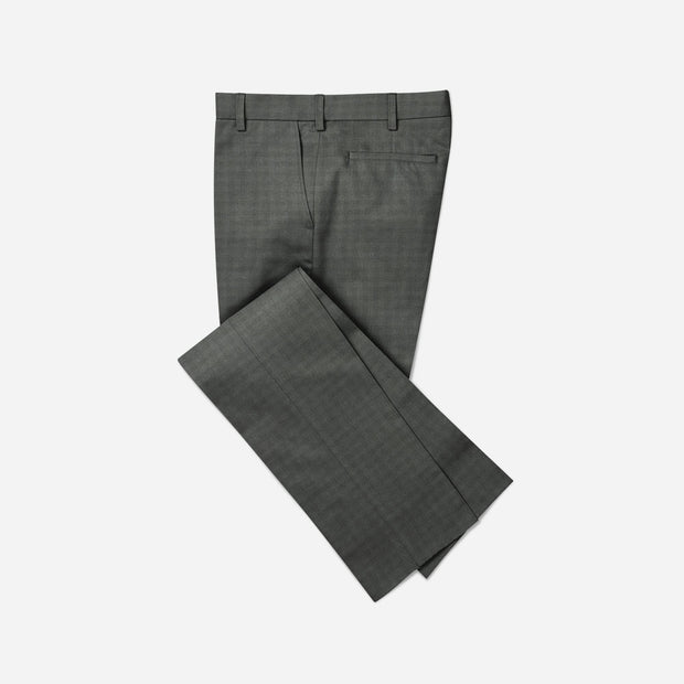 Selects Men's Formal Trouser - Light Black/Gray Checks (TRO-018) - Theshirtfactory