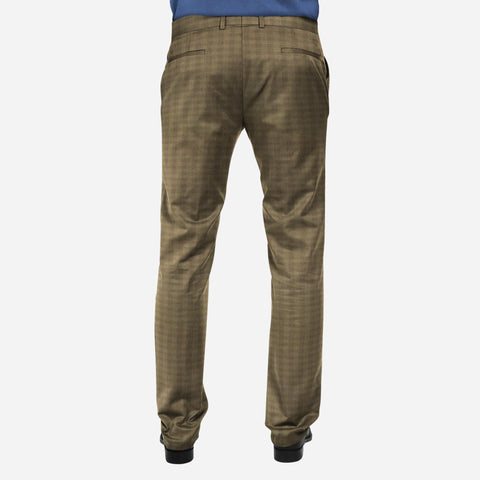 Selects Men's Formal Trouser - Olive/Beige Checks (TRO-019) - Theshirtfactory