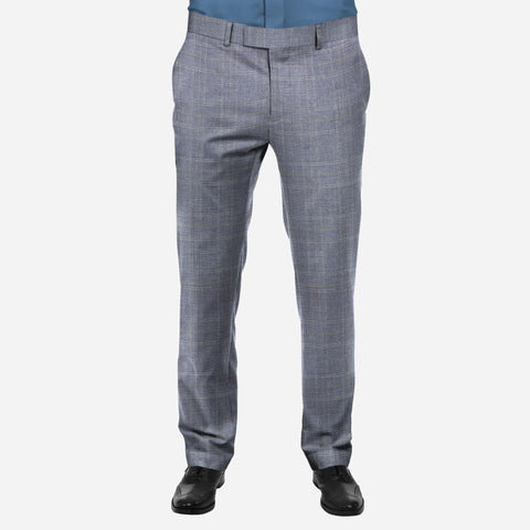 Selects Men's Formal Trouser - Light Blue/Gray (TRO-033) - Theshirtfactory