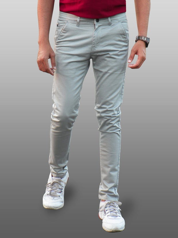 Men's Casual Cotton Trouser - Smokey Grey (TRO-042)