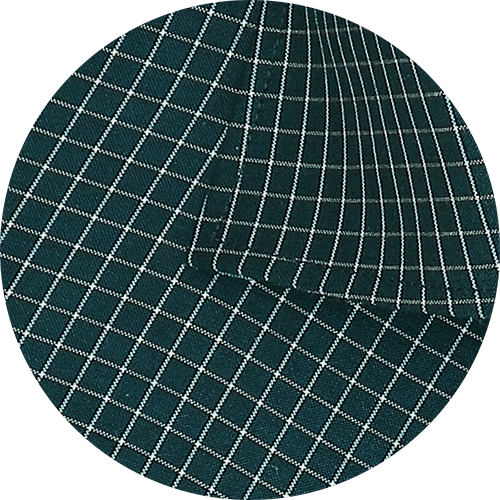 Men's Cotton Blend Check Shirt - Sacramento Green (0785) - Theshirtfactory