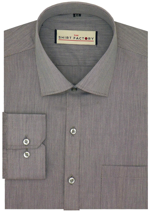 Men's Cotton Blend Pin Check Combo Of 2 Casual Shirts - Pink and Grey - Theshirtfactory