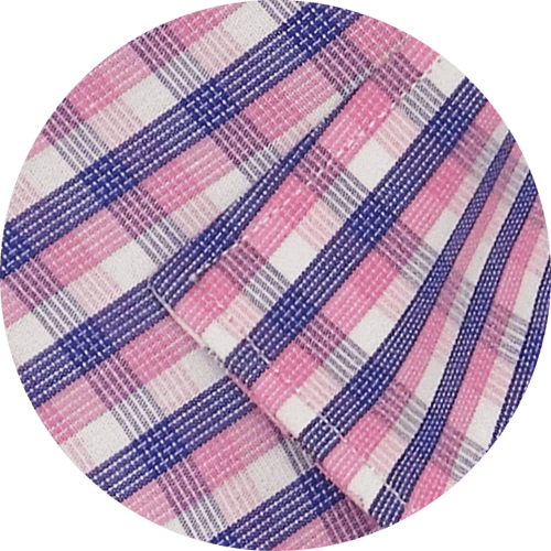 Men's Cotton Check Full Half Sleeves Shirt - Pink (0887) - Theshirtfactory