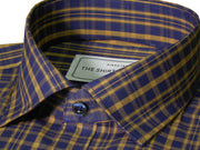 Men's Cotton Check Shirt - Brown (0894) - Theshirtfactory