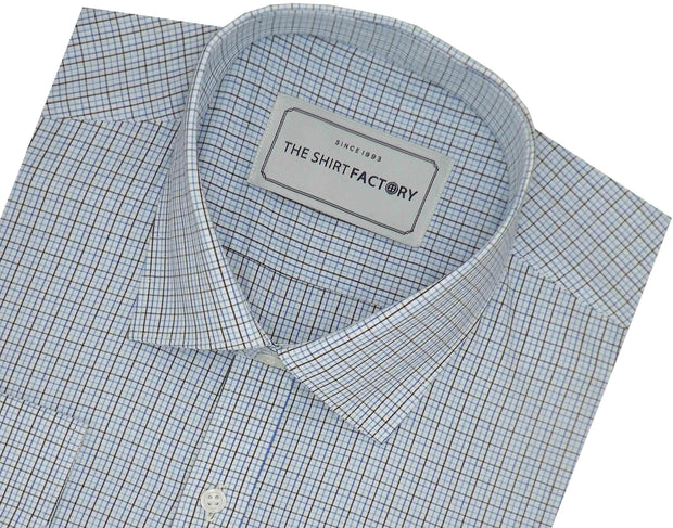Men's Cotton Check Shirt - Multicolor (0958) - TheshirtfactoryCheck Casual
