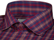 Men's Cotton Check Shirt - Red (0630) - Theshirtfactory