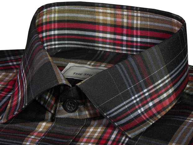 Men's Poly Cotton Check Shirt - Multicolor (0731)