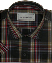 Men's Poly Cotton Check Shirt - Multicolor (0731) - Theshirtfactory