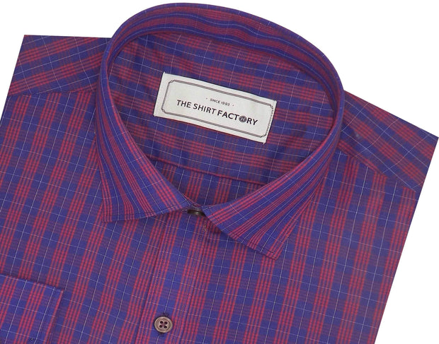 Men's Poly Cotton Check Shirt - Multicolor (0734) - Theshirtfactory