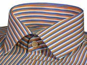 Men's Poly Cotton Stripes Shirt - Multicolor (0999) - Theshirtfactory