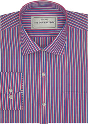 Men's Poly Cotton Check Stripes - Multicolor (1000) - TheshirtfactoryCheck Casual