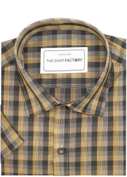 Men's Cotton Blend Check Shirt - Multicolor (0653) - Theshirtfactory