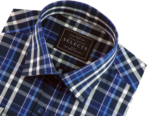 Selects Premium Cotton Check Shirt - Multicolor (0623) - Theshirtfactory
