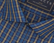 Selects Premium Cotton Check Shirt - Blue (0636) - Theshirtfactory