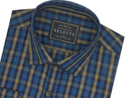 Selects Premium Cotton Check Shirt - Green (0375) - Theshirtfactory