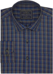 Selects Premium Cotton Check Shirt - Multicolor (0637) - TheshirtfactoryCheck Casual