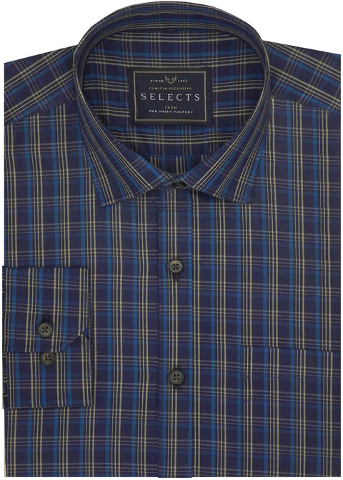 Selects Premium Cotton Check Shirt - Multicolor (0637)