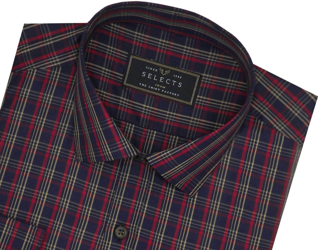 Selects Premium Cotton Check Shirt - Multicolor (0638)