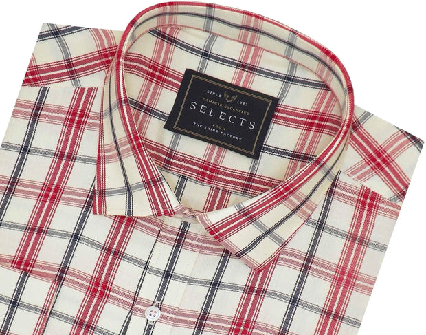 Selects Premium Cotton Twill Check Shirt - Multicolor (0922) - Theshirtfactory