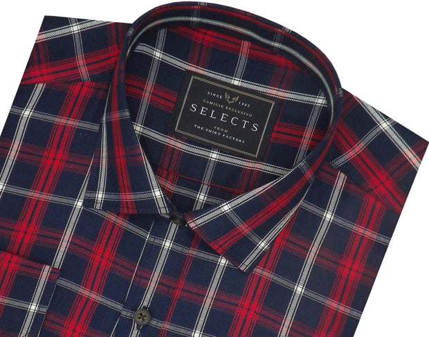 Selects Premium Cotton Twill Check Shirt - Multicolor (0921)