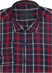 Selects Premium Cotton Twill Check Shirt - Multicolor (0921) - Theshirtfactory