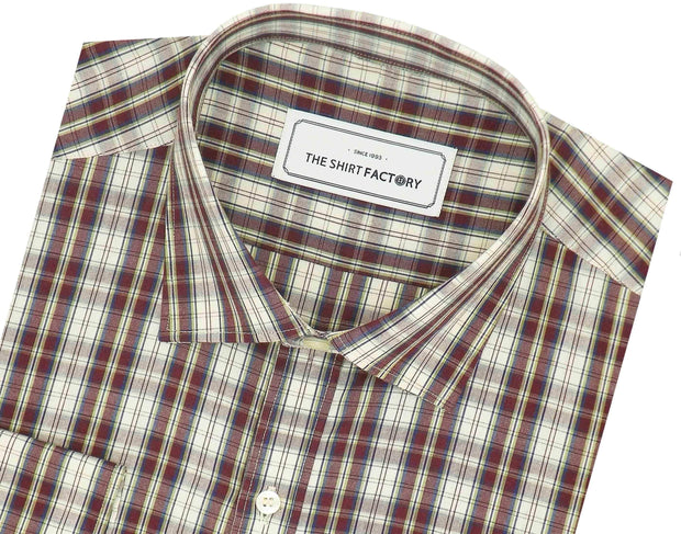 Men's 100% Cotton Check Shirt - Multicolor (0714) - Theshirtfactory