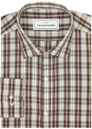 Men's 100% Cotton Check Shirt - Multicolor (0714)