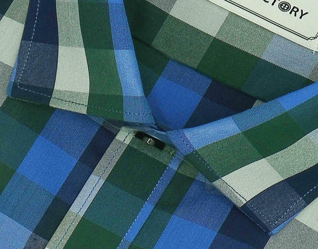 Men's Cotton Blend Check Shirt - Multicolor (0732) - Theshirtfactory
