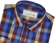 Men's Cotton Blend Check Shirt - Multicolor (0733) - Theshirtfactory