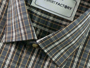 Men's 100% Cotton Check Shirt - Multicolor (0456) - Theshirtfactory
