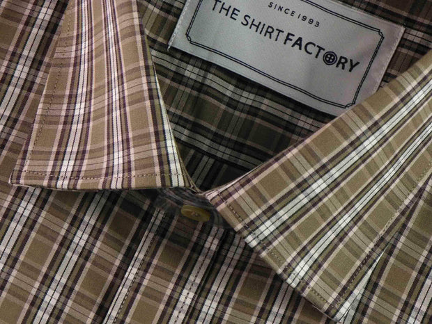 Men's 100% Cotton Check Shirt - Multicolor (0457) - Theshirtfactory