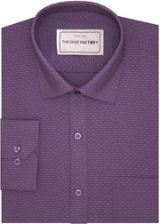 Men's Poly Cotton Dobby Shirt - Purple (0814)