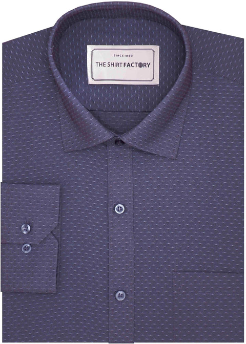 Men's Poly Cotton Dobby Shirt - Space Blue (0811) - Theshirtfactory