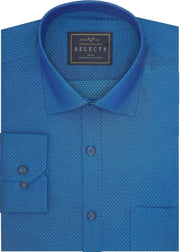Selects Cotton Dobby Shirt for Men Blue (0447)