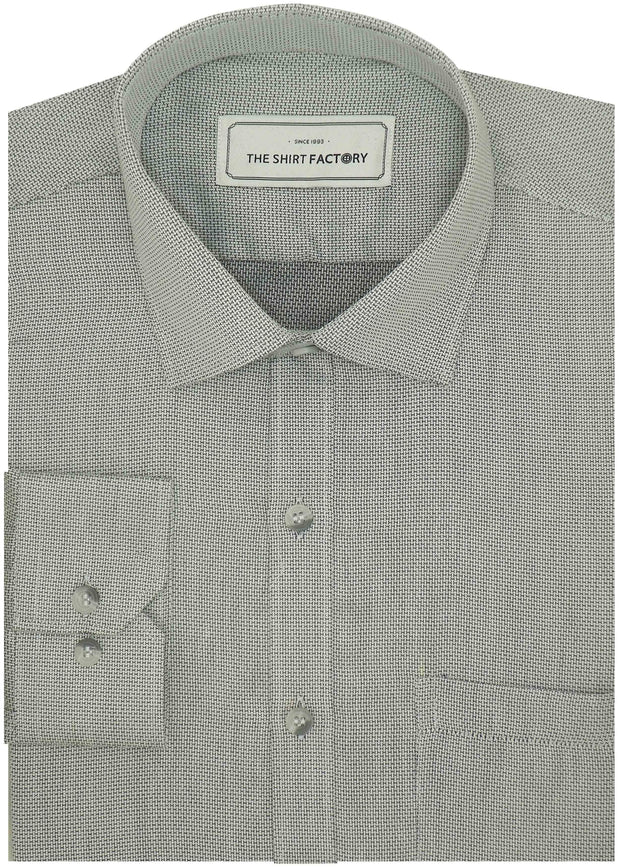 Men's 100% Cotton Dobby Shirt - Grey (0809) - Theshirtfactory