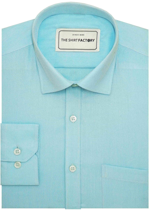 Men's Cotton Blend Dobby Plain Shirt - Sky Blue (0770) - Theshirtfactory
