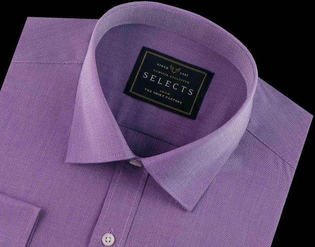 Selects Premium Cotton Dobby Shirt - Lavender (0442) - Theshirtfactory