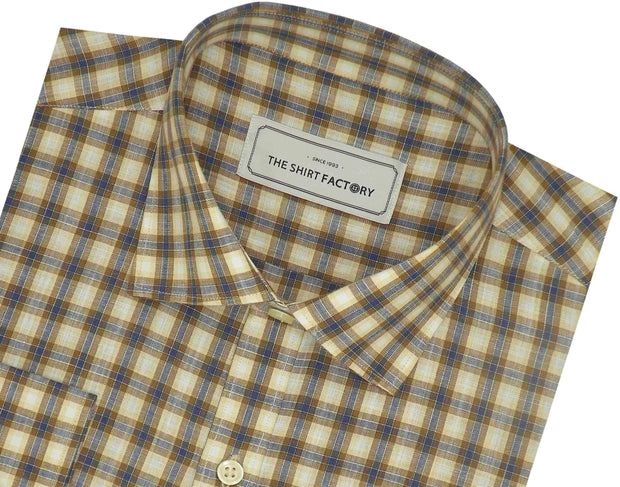 Men's Cotton Check Shirt - Multicolor (0628)