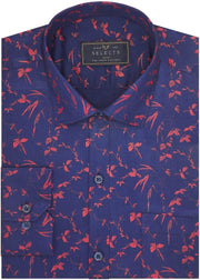 Selects Cotton Dobby Printed Shirt for Men Blue (0962) - Theshirtfactory
