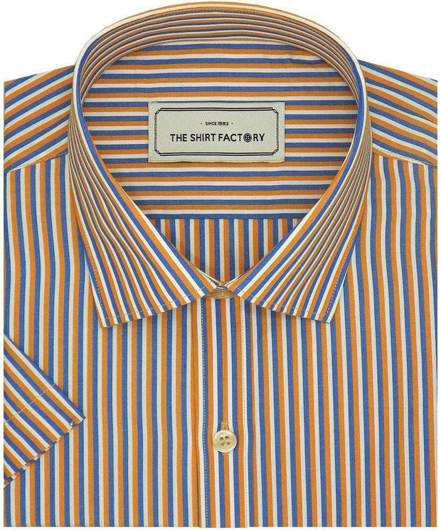 Men's Poly Cotton Check Shirt - Multicolor (0999)