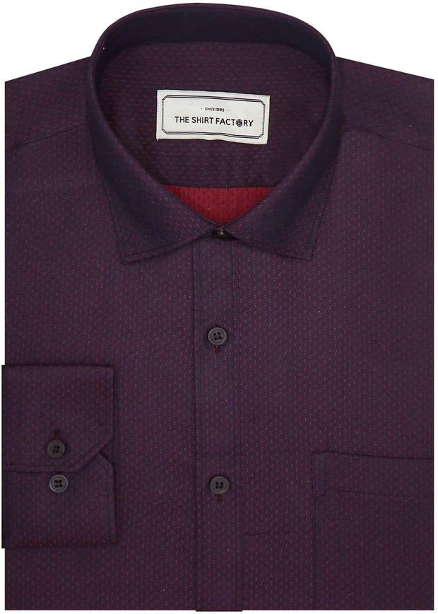 Men's Premium Cotton Printed Shirt Deep Purple (0993) - Theshirtfactory